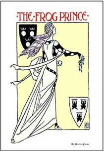 an  illustration of The Frog Prince; Walter Crane; 1900